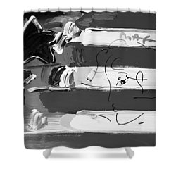 Max Stars And Stripes In Black And White Shower Curtain by Rob Hans