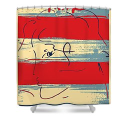 Max Woman In Hope Shower Curtain by Rob Hans