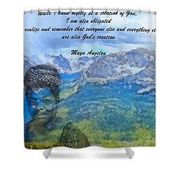 Maya Angelou Tribute Shower Curtain by Dan Sproul