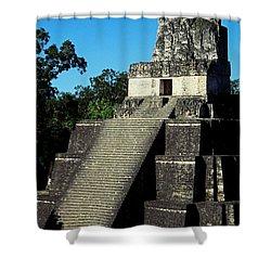 Mayan Ruins - Tikal Guatemala Shower Curtain by Juergen Weiss