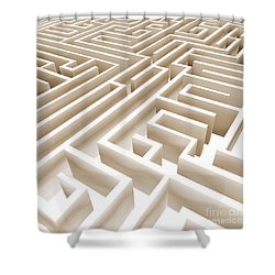 Maze Shower Curtain by Stefano Senise