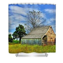 Mclean House Barn 1 Shower Curtain by Dan Stone