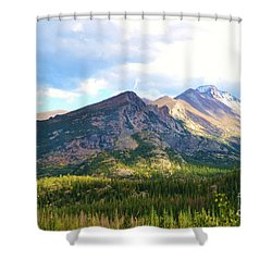 Meadow And Mountains Shower Curtain by Kathleen Struckle