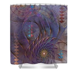 Meandering Acquiescence Shower Curtain by John Robert Beck