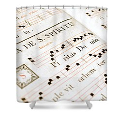 Mediavel Chorus Book  Shower Curtain by Fabrizio Troiani
