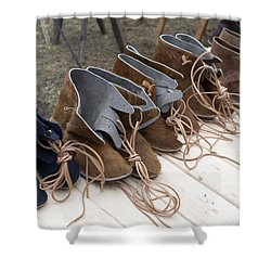 Medieval Fashion Shoes Shower Curtain by Ladi  Kirn