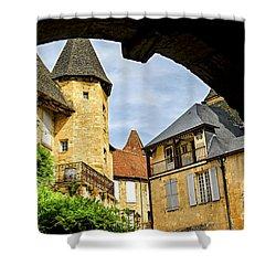 Medieval Sarlat  Shower Curtain by Elena Elisseeva