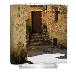 Medieval Village Street Shower Curtain by Lainie Wrightson