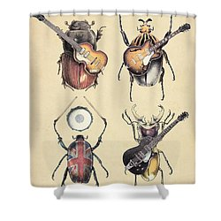 Meet The Beetles Shower Curtain by Eric Fan