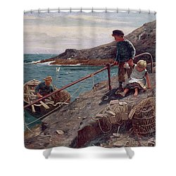 Meeting Father Shower Curtain by Thomas James Lloyd