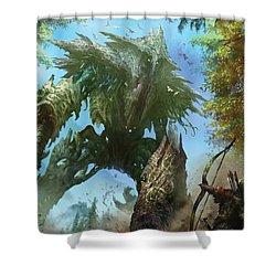 Megantic Sliver Shower Curtain by Ryan Barger