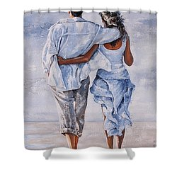 Memories Of Love Shower Curtain by Emerico Imre Toth