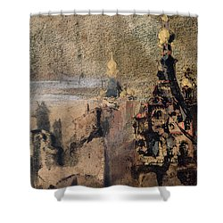 Memory Of Spain Shower Curtain by Victor Hugo