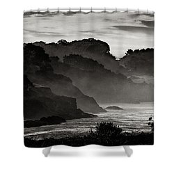 Mendocino Coastline Shower Curtain by Robert Woodward