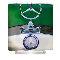Mercedes Benz Hood Ornament 3 Shower Curtain by Jill Reger