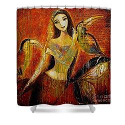 Mermaid Bride Shower Curtain by Shijun Munns