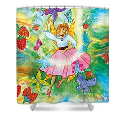 Merri Goldentree Dances Shower Curtain by Teresa Ascone
