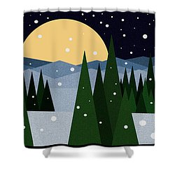 Merry Christmas Shower Curtain by Val Arie