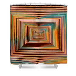 Mesmer Realized Shower Curtain by Tim Allen