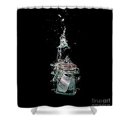 Message In Sinking Bottle Shower Curtain by Simon Bratt Photography LRPS