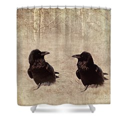 Messenger Shower Curtain by Priska Wettstein