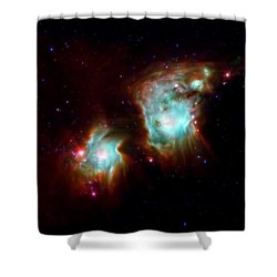 Messier 78 Star Formation Shower Curtain by The  Vault - Jennifer Rondinelli Reilly