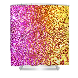Metal Abstract Shower Curtain by Tony Cordoza