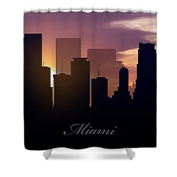 Miami Sunset Shower Curtain by Aged Pixel