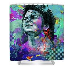 Michael Jackson 12 Shower Curtain by Bekim Art