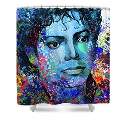 Michael Jackson 14 Shower Curtain by Bekim Art