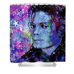 Michael Jackson 17 Shower Curtain by Bekim Art
