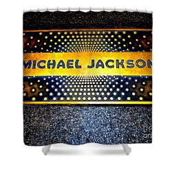 Michael Jackson Apollo Walk Of Fame Shower Curtain by Ed Weidman
