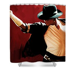 Michael Jackson Artwork 4 Shower Curtain by Sheraz A
