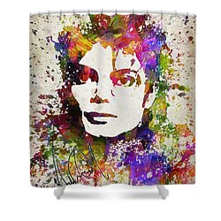 Michael Jackson In Color Shower Curtain by Aged Pixel