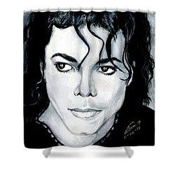Michael Jackson Portrait Shower Curtain by Alban Dizdari