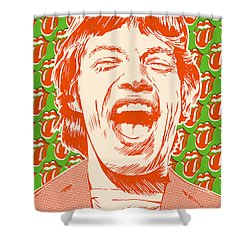 Mick Jagger Pop Art Shower Curtain by Jim Zahniser