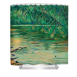 Mid-spring On The New River Shower Curtain by Kendall Kessler
