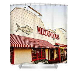 Middendorf's Shower Curtain by Scott Pellegrin