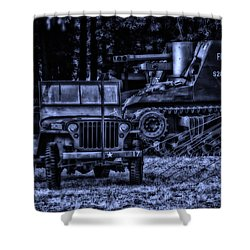 Midnight Battle And All Is Quite On The Front Lines Shower Curtain by Thomas Woolworth