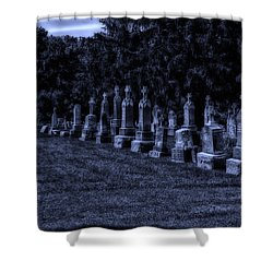 Midnight In The Garden Of Stones Shower Curtain by Thomas Woolworth