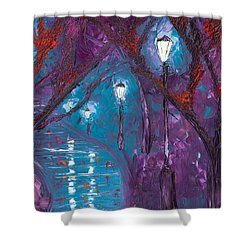 Midnight Soliloquy  Shower Curtain by Jessilyn Park