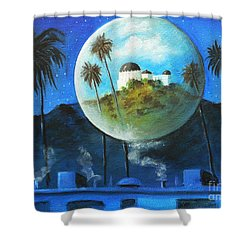 Midnights Dream In Los Feliz Shower Curtain by Susi Galloway