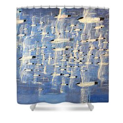 Migrate Shower Curtain by Charlie Baird
