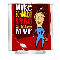Mike Schmidt Philadelphia Phillies Shower Curtain by Jay Perkins