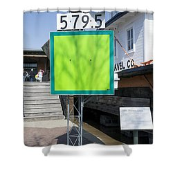 Mile Marker 579.5 Shower Curtain by Steven Ralser