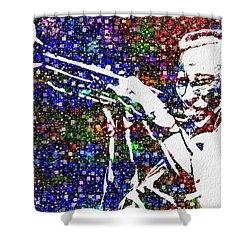 Miles Davis Shower Curtain by Jack Zulli