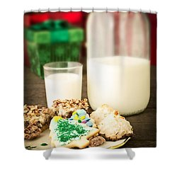 Milk And Cookies Shower Curtain by Edward Fielding