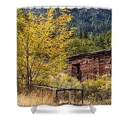 Milking Shed Shower Curtain by Kathleen Bishop