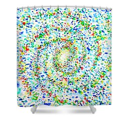 Milky Way Galaxy - Watercolor Painting Shower Curtain by Fabrizio Cassetta