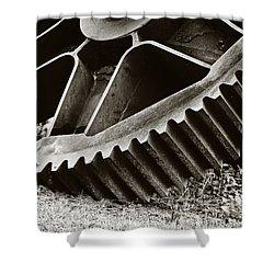 Mill Gear Shower Curtain by Scott Pellegrin